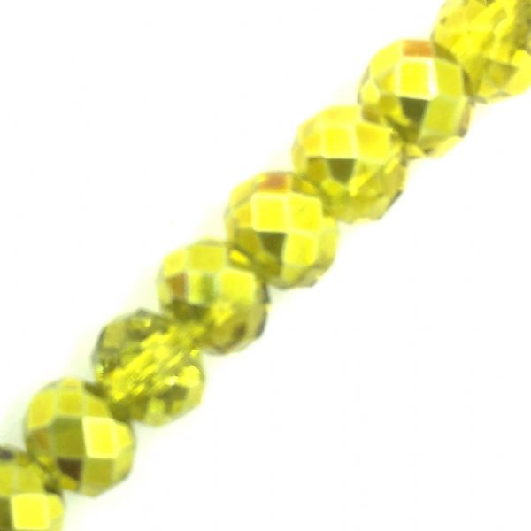 Crystal rondelle carnival beads - yellow